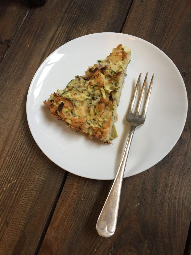 gluten free courgette slice