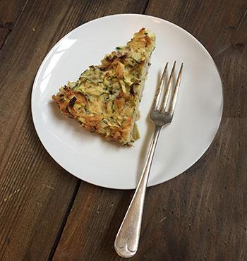 Gluten Free Courgette Slice Recipe
