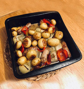 gluten free sausage tray bake
