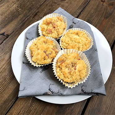 Gluten Free Cheese and Bacon Muffins Recipe