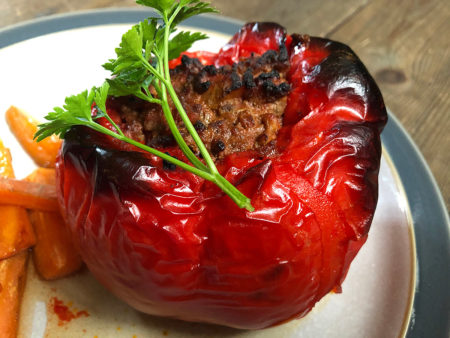 gluten free stuffed peppers detail