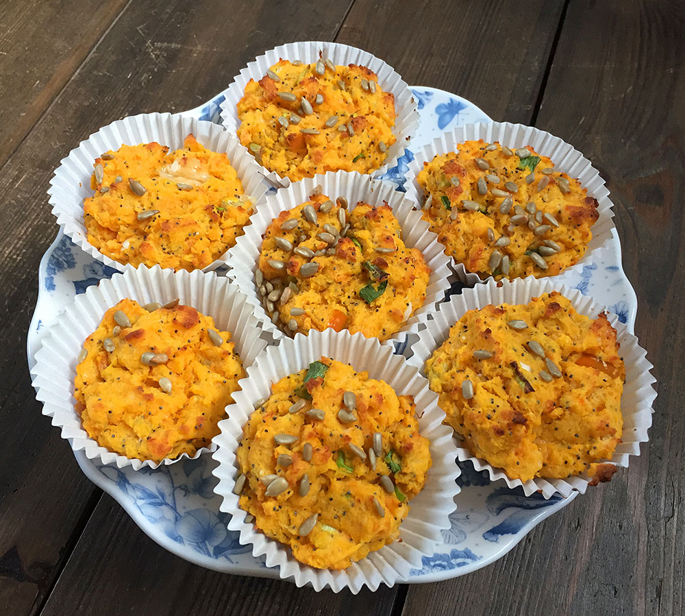 gluten free sweet potato muffins