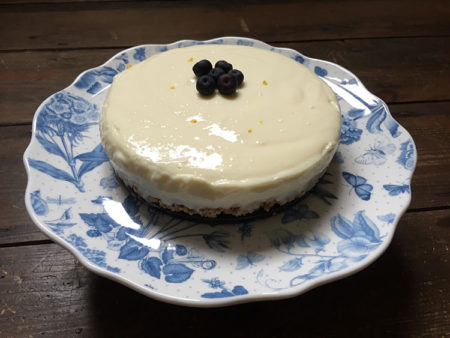 gluten free lemon and lime cheesecake